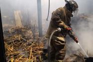 Se prendió en llamas un restaurante en el barrio Crespo de Cartagena