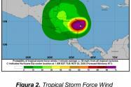 Se informa afectaciones principalmente en las costas de Nicaragua.