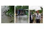 Gobernación de Sucre hace presencia en zonas afectadas por el invierno