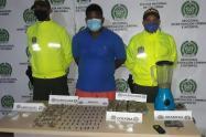 El hombre y la droga quedaron a disposición de la Fiscalía General de la Nación