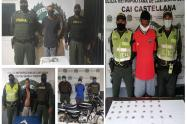 Los atraparon con droga, armas de fuego y blancas
