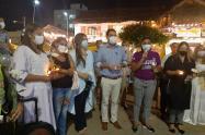 Presidente de la Asamblea y grupos sociales lideraron plantón contra la violencia a la mujer