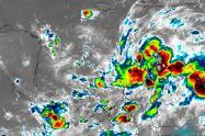 Imágenes satelitales de la tormenta tropical IOTA