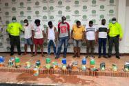 10 personas fueron capturadas y puestas a disposición de la Fiscalía