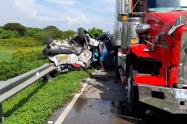 Dos conductores salieron ilesos