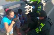 Familia rescatada