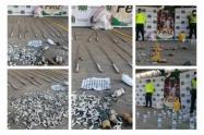 Policía Nacional en Sucre se incauta de 50 kilogramos de pólvora y de más de 150 litros de licor adulterado en los Municipios de Sincelejo y Corozal.