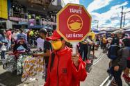 Coronavirus en Bogotá - Campaña para evitar contagios en San Victorino