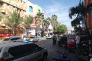 Lugar atentado granada Barranquilla