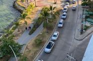 Caravana de vehículos en protesta