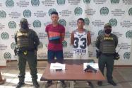 Policía captura a dos hombres que pretendían cometer acción delincuencial en Turbaco