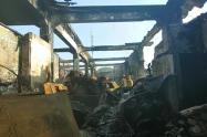 Incendio en el barrio San Roque, en Barraquilla.
