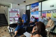 Los adultos mayores de 60 años en Santa Marta, son voluntarios en la prueba clínica de la vacuna de Janssen