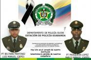 Dos policías fueron asesinados en Guaranda,Sucre,la madrugada de este domingo 14 de febrero