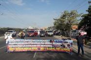 Gremio de transportadores anunció que seguirán los bloqueos de no llegar a acuerdo con el alcalde de Cartagena