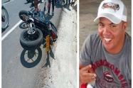 Se accidentó en su motocicleta