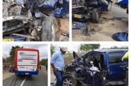 Cinco lesionados dejo accidente ocurrido en la mañana de este viernes en la troncal de occidente,en inmediaciones del municipio de Ovejas