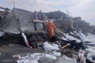 cerca de 100 personas se han visto afectados por la erosión