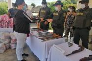 La entrega se hizo en el municipio de Nueva Granada