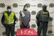 El ahora capturado fue sorprendido con droga