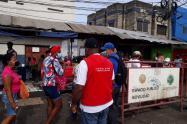 Medidas de restricción en el mercado de Bazurto (Cartagena)