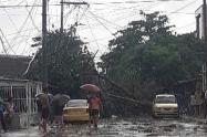 Afectación por lluvia en Barranquilla
