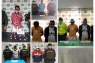 Por delito de trafico de estupefacientes fueron capturadas seis personas en los municipios de Galeras, Sampués, y Ovejas