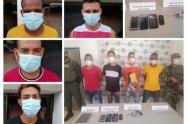 Cayeron cuatro presuntos integrantes del grupo armado organizado Clan del Golfo, en Sucre , Sucre