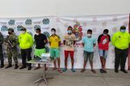 fueron capturados en operaciones en el municipio de Dibulla