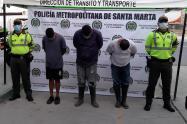 Los capturados fueron sorprendidos en Parque Isla Salamanca