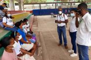 Programa Familias en Acción, en recorrido de puntos móviles en el corregimiento de Bocachica