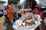 """""""Reciclatón"""" en el Mercado de Bazurto"""