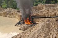 Destruyen maquinaria utilizada para extracción ilícita de oro en el sur de Bolívar