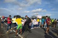 Comunidad de Camarones se unió al Paro Nacional