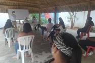 Comunidad se reunió con autoridades departamentales
