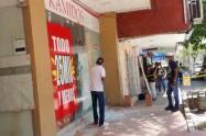 Daños por disturbios en cercanías al estadio Romelio Martínez