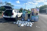 E ejes viales de La Guajira se logró la detención de 32 kilos de marihuana