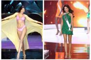 Laura Olascuaga en sus desfiles en Miss Universo