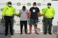 Los dos hombre son sindicados de ser de una red de sicarios que perpetraron varios homicidios en Santa Marta
