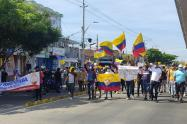 Manifestantes en Barranquilla