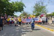 Graves disturbios en nueva jornada de protesta en Barranquilla