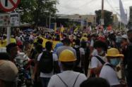 Marcha de centrales obreras en Barranquilla