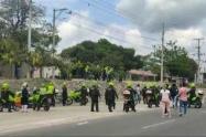 Protestas en municipios del Atlántico