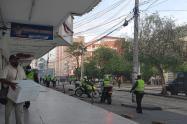 Zona de los disturbios en Barranquilla