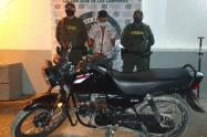 La moto está valorada en seis millones de pesos
