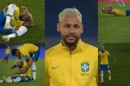 Neymar celebró robo en Colombia Vs Brasil: Imágenes la risita que no se vio en televisión