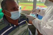 La vacunación inició en el corregimiento de Santa Lucía
