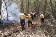 Operativo de extinción de incendio forestal