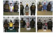 Policía en Sucre captura a seis personas por drogas e incauta 250 dosis