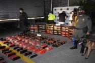 Presunto responsable de transportar 268 kilos de marihuana